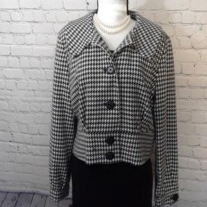 Worthington Houndstooth fitted blazer